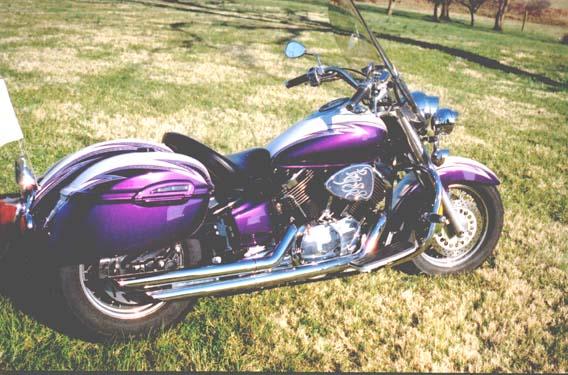 Yamaha V Star Pearl White
